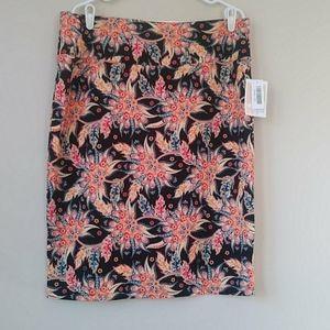LuLaRoe Cassie Paisley Floral Pull On Skirt
